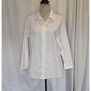 J. Jill Stretch Button Down Shirt White 1X